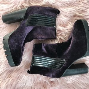 Shoes - Suede Purple Booties